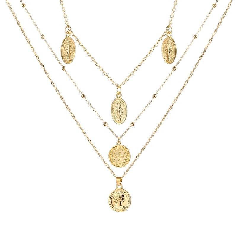 VKME модное жемчужное ожерелье с двойным слоем Love аксессуары Женское Ожерелье Bijoux подарки - Окраска металла: ZL0001112
