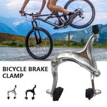 Bicycle Caliper Brake Durable Portable Chrome Vanadium Steel 2 Color Mountain Bike Outdoor Cycling Parts C Brake Clamp(China)