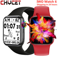 Chycet relógio inteligente tela dividida botão rotativo smartwatch masculino feminino bluetooth chamadas de fitness rastreador relógios pk iwo 13