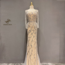 Diamond Beading Sleeveless Mermaid Formal  Dress 2020 new dubai evenning dresses