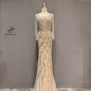 Image 1 - Diamond Beading Sleeveless Mermaid Formal  Dress 2020 new dubai evenning dresses