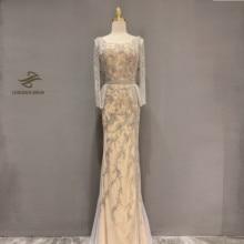 Elmas boncuk kolsuz Mermaid resmi elbise 2020 yeni dubai akşam elbise
