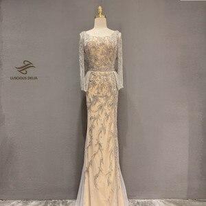 Image 1 - Elmas boncuk kolsuz Mermaid resmi elbise 2020 yeni dubai akşam elbise
