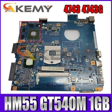 AKEMY MB.RFL01.001 MBRFL01001 48.4NI01.01M Laptop Motherboard For Acer aspire 4743 4743G HM55 GT540M 1GB Main board
