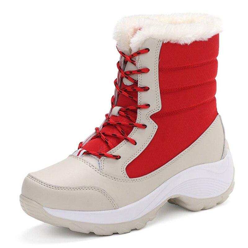 Женские ботинки; Женские зимние ботинки на платформе; Зимняя обувь; Женские плюшевые ботильоны; Botas Mujer; Ботинки на толстом каблуке; Женские зимние ботинки|women snow boots|snow bootsplatform ankle boots | АлиЭкспресс