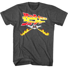 Back to The Future Japan Movie Poster Men's T Shirt Delorean Time Travel Vintage(China)