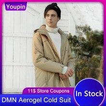 2020 youpin dmn aerogel anti frio para baixo casaco para 196 severe severo frio nitrogênio líquido spray termostato homem inverno aerogel frio terno