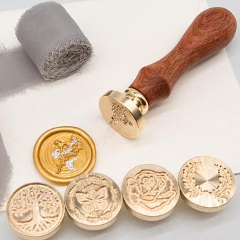 Sello de cera de sellado, clásico, bricolaje, Retro, fabricación de tarjetas de Metal, sello de cera, artesanías manuales, herramientas de invitaciones de boda
