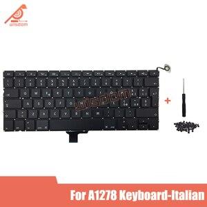 Pełny nowy Laptop A1278 włoska klawiatura dla Apple Macbook Pro 13 ''A1278 klawiatura włoski włochy standardowy układ 2009-2012year