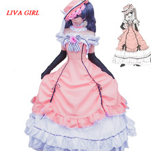 Schwarz Butler Kuroshitsuji Ciel Phantomhive Sleeveless Spitze Maid Gericht Volle Kleid Uniform Outfit Anime Cosplay Kostüme(China)