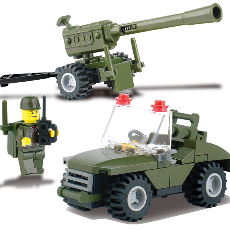 DIY Field Armies Assemble Toy Early Educational Small Particles Building Blocks