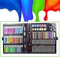 Crianças conjunto de arte crianças desenho conjunto água cor caneta lápis óleo pastel pintura desenho ferramenta artigos de arte conjunto 150 pçs|Láp. cera| |  -