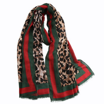 YILIAN Brand Animal Leopard Print Women Scarf Thick Refinement Popular Soft Cotton Punk Street Winter