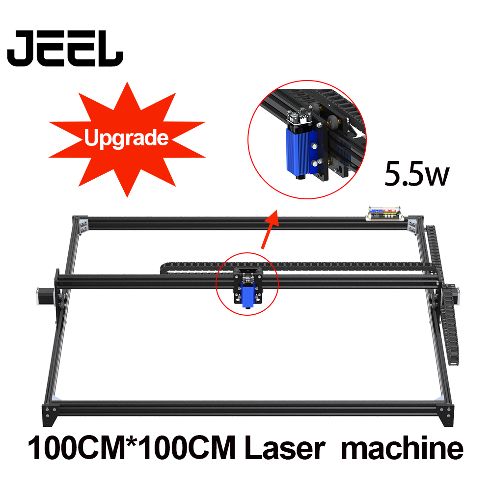 1*1M2.5W/ 5.5W /15W CNC GRBL Laser Engraver Machine  TTL /PWM Control DIY  100*100cm Engraver Desktop Wood Router/Cutter/Printer