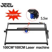 Graveur de bureau en bois, 1*1M2.5W/5.5 W/15 W, graveur Laser GRBL, Machine de gravure TTL/PWM Control bricolage, 100*100 cm, routeur/imprimante
