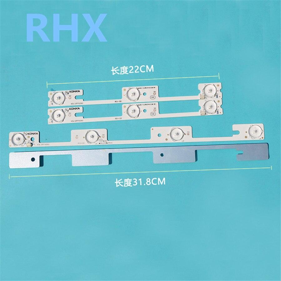 4Pieces/lot  FOR  Konka  KDL32MT626U  LED LCD Backlight Strip  35019055 35019056   100%NEW  Aluminum Plate  6V