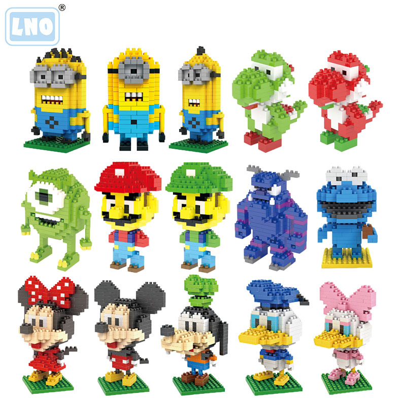 Mini Building Blocks Mario Bros Yoshi Cartoon Character Brick Educational Toys For Children Micro Size Diamond Block No Box CE