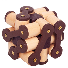 Luban Lock Toys Wooden Puzzle Game For Children Adult Educational Brain Training Children Adult Decompression Antistress Toys