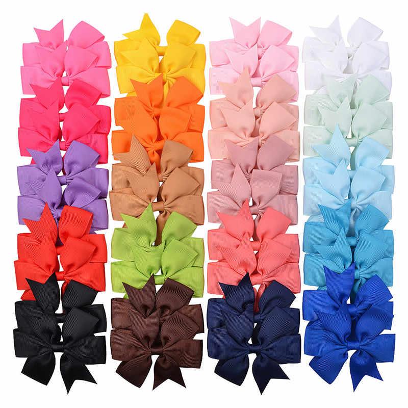 40 renkler DIY şerit yay saç klipleri kızlar için şapkalar bebek çocuk tokalar çocuk saç Pin kadınlar firkete klip saç aksesuarları