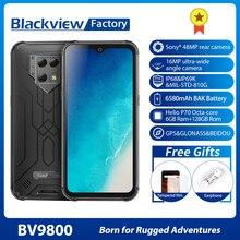 "Blackview BV9800 Helio P70 6GB + 128GB 안드로이드 9.0 스마트 폰 48MP 카메라 IP68 방수 6580mAh 6.3 ""FHD 견고한 휴대 전화"