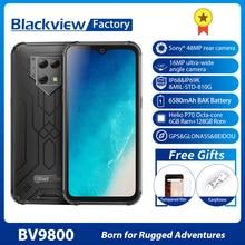 "Blackview BV9800 Helio P70 6GB + 128GB Android 9.0 Smartphone 48MP Macchina Fotografica IP68 Impermeabile 6580mAh 6.3 ""FHD Telefono Cellulare Robusto"