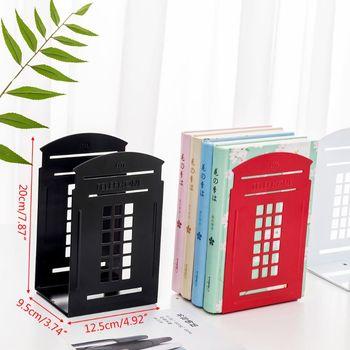 1 para budka telefoniczna Bookends Book Stand wsparcie antypoślizgowy stojak uchwyt półki M0XB tanie i dobre opinie M0XB5AC1103217-BK Metal app 12 5x20x9 5cm 4 92x7 87x3 74in
