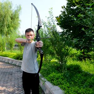 Image 5 - For starter 40lbs fishing bow aluminum recurve long bow straight bow