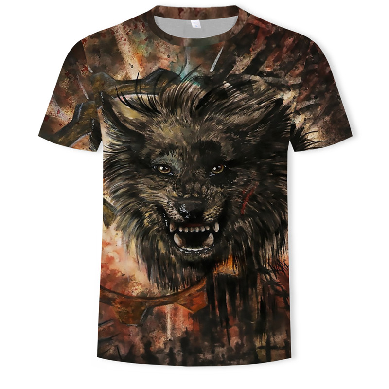 3D Printed Predator  Wolf T-shirt Men Tops Anger Shirts Animal 3d T Shirt Sports Mens Clothing 2018 Summer Casual Tops
