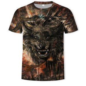 3D printed predator wolf T-shirt Men tops Anger Shirts Animal 3d T Shirt sports Mens Clothing 2018 Summer Casual Tops