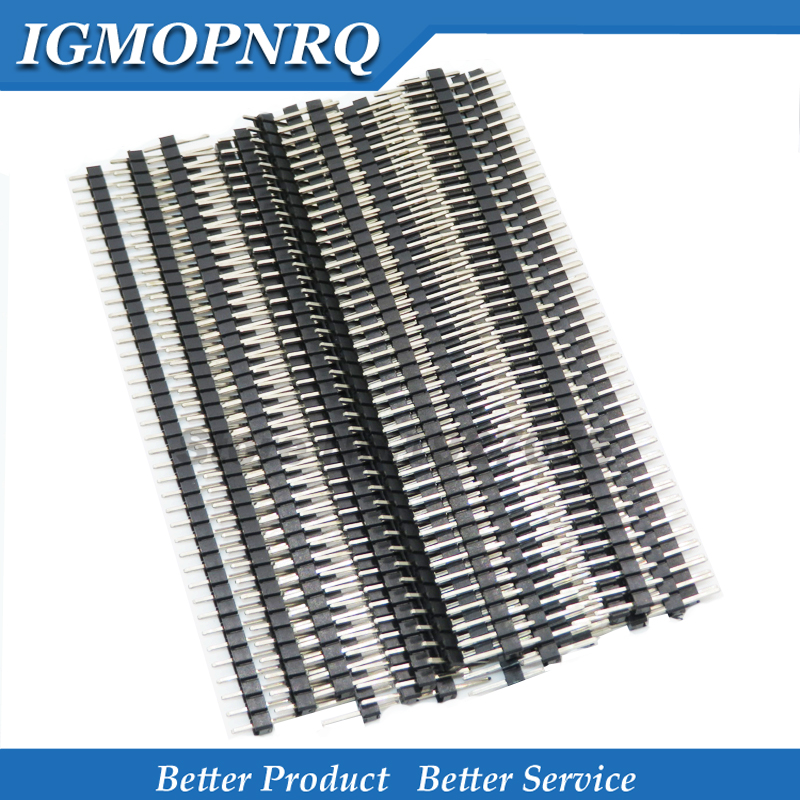 20pcs 40 Pin 1x40 Single Row Male Breakable Pin Header Connector Strip 2.54mm New