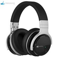 Meidong E7B casque Bluetooth actif suppression de bruit casque casque sans fil 30 heures sur l'oreille avec microphone basse profonde