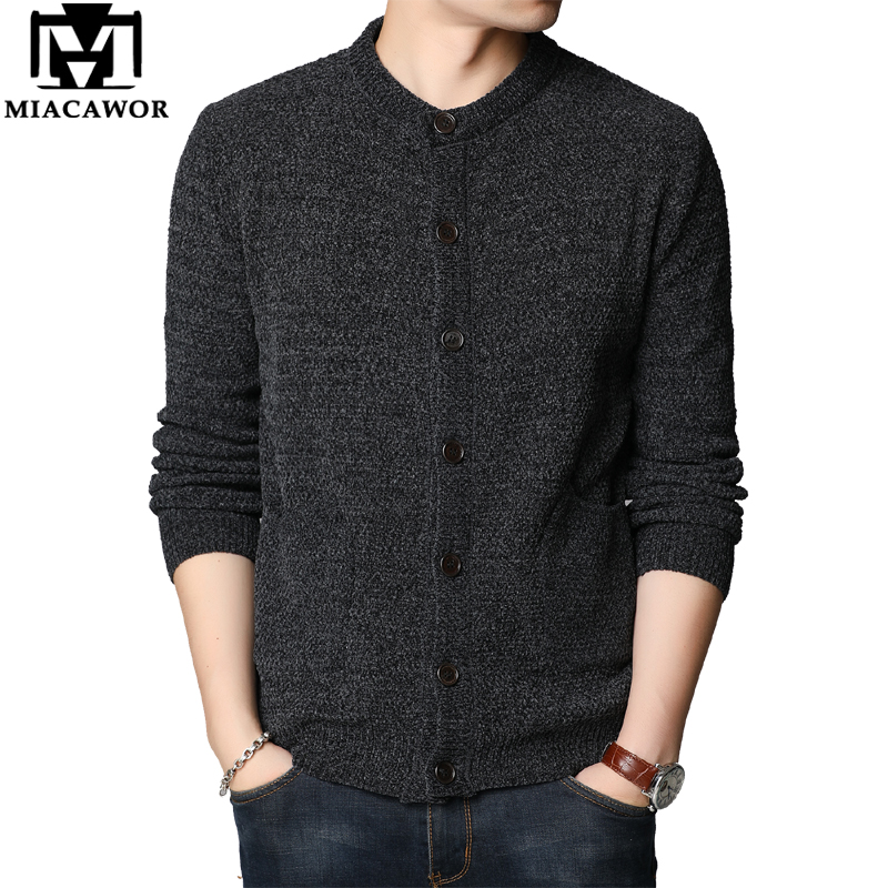 MIACAWOR New Sweater Coat Men Autumn Winter Cardigan Men Slim Fit Jumpers Knitred Jersey Hombre Casual Men Clothing Y211