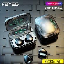 цена на FBYEG TWS Bluetooth Earphone Sports Wireless Headphones Stereo Earbuds 3D Mini In Ear Dual Mic With Charging Box Bluetooth V5.0