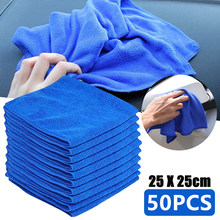 50 pçs microfiber carro toalha de limpeza auto pano macio pano de lavagem espanador de toalha de lavagem de carro de vidro de limpeza de casa micro toalha de fibra