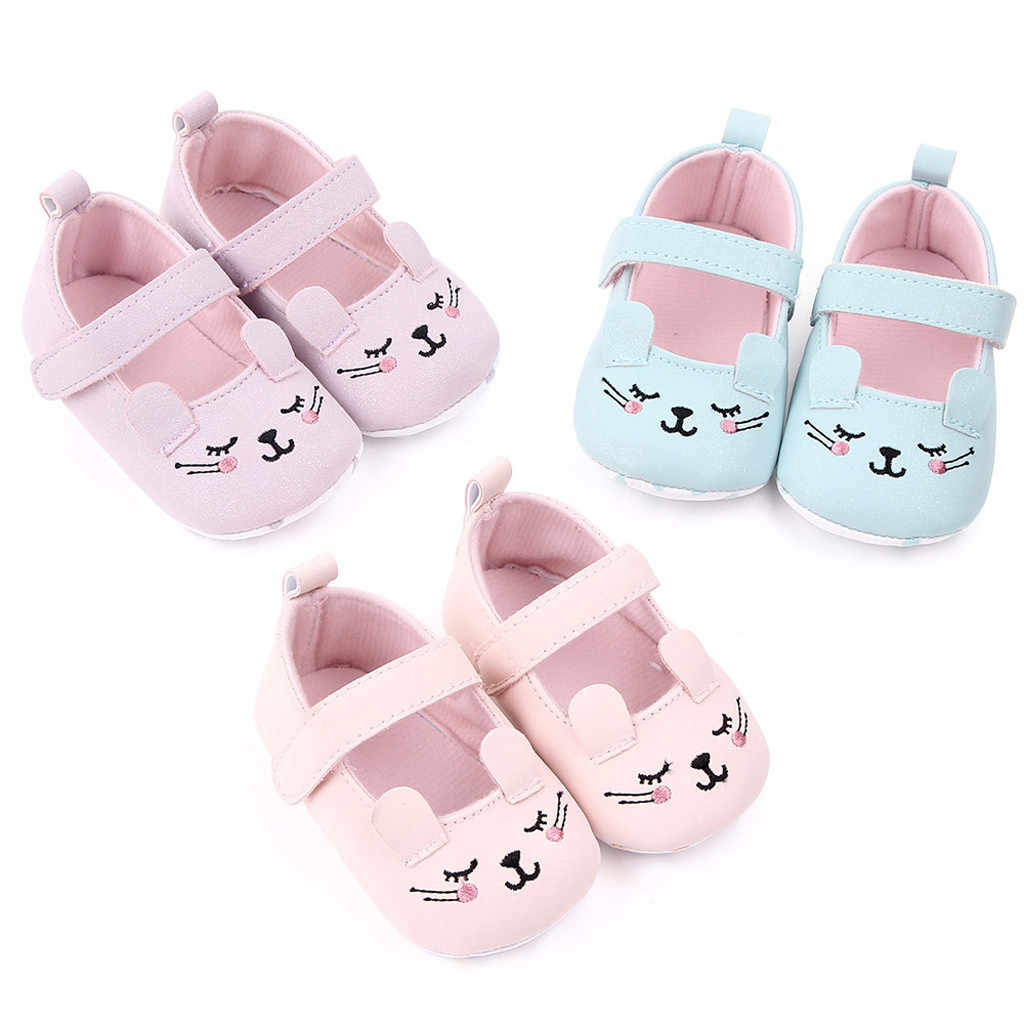 Zapatos de bebé de dibujos animados suela suave sólida Zapatos de bebé primer caminador Zapatos de otoño bonitos Zapatos de bebe Ninas Zapatos de niña 0 M-24 M