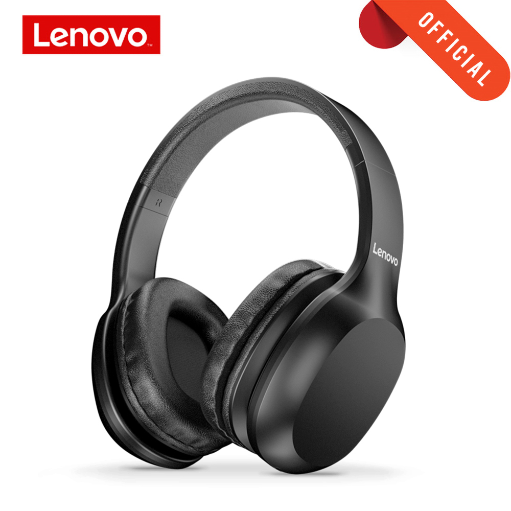 Lenovo Wireless Headphones Bluetooth 5.0 Multi-mode Stereo Headset With Mic 300mAh Battery 3.5MM Jack For PC Laptop Phone