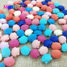 13x15mm Scallop Shape Coral Beads For Jewelry Making Necklace Bracelet Mixed Color Coral Beads DIY Accessories Wholesale недорого