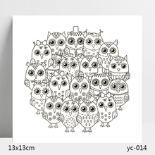 AZSG Owl Clear Stamps/Seals For DIY Scrapbooking/Card Making/Album Decorative Silicone Stamp Crafts
