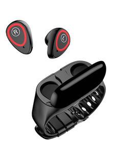 Bluetooth-Headset Camera Stereo Headphone Noise-Reduction Portable Wireless Handsfree