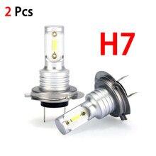 2 pçs h7 led farol lâmpadas kit de conversão hi/lo feixe 55w 8000lm 6000k super brilhante 1860 fonte de luz 360 graus atacado