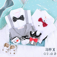 2 sets clothes in one box Newborn baby clothes cotton clothing gift summer jumpsuit kids 100 days birthday gift gentleman boy