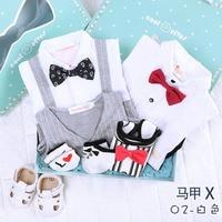 2 sets clothes in one box Newborn baby clothes cotton clothing gift summer jumpsuit kids 100 days birthday gift gentleman boy