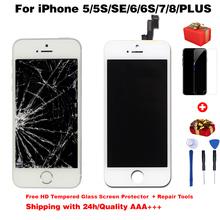 Jakość AAA + + + wyświetlacz LCD dla iphone 6 s ekran dotykowy digitizer lcd dla iPhone6 ekran 5S 6splus 7 7Plus nie martwy piksel + prezenty tanie tanio NOKEVAL Rohs CN (pochodzenie) Pojemnościowy ekran 1920x1080 3 For iPhone 4s 5 5c 5s SE 6 6S 7 8 LCD i ekran dotykowy Digitizer