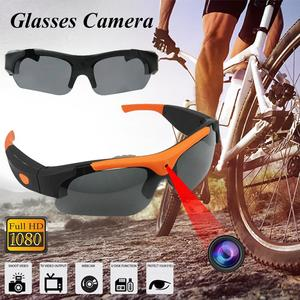 Battiphee Smart Glasses Video Recorder Glasses 1080P HD Picture 32GB Optional Wearable Camera Polarized Lens Sunglasses Cycling