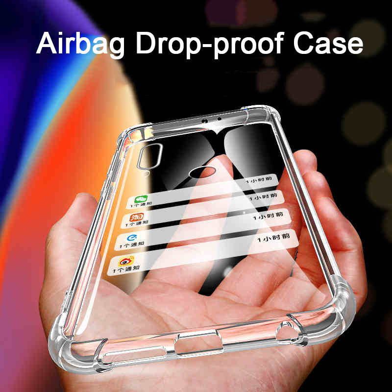 Drop-proof airbag phone <font><b>case</b></font> on for <font><b>Huawei</b></font> Y9 <font><b>2018</b></font> <font><b>Y</b></font> <font><b>9</b></font> Prime 2019 Huawe y92018 y92019 y9prime 2019 soft tpu four corners covered image