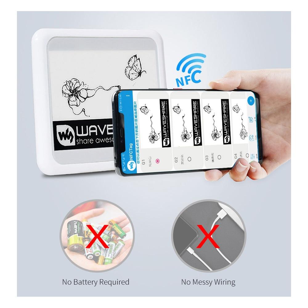 4,2 дюймов Беспроводной NFC-E Бумага Eink E-Бумага E-ink Экран дисплея модуль для Мобильный телефон IOS Android APP, не Батарея