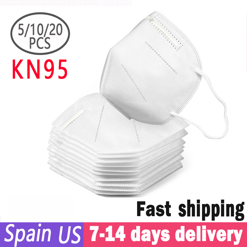10PCS N95 Mask KN95 Dust Respirator Mask Same As FFP2 Anti Dust Prevention Smog Prevention Masks Masque Mascarilla Mondkapjes