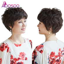 Synthetic short curly wig hair extending women's high temperature heat resistant fiber wig fashion wig short hair