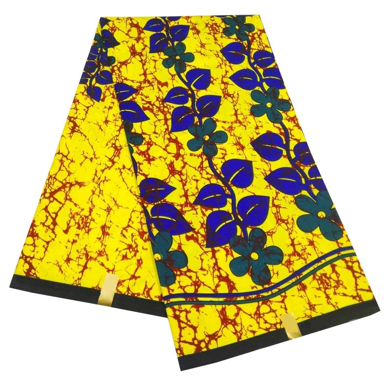 Ankara Wax Print Polyester Fabric African Wax Fabric Red &Black &Brown Ankara African Holland Batik Fabric