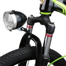 Retro Vintage bicicleta 3 LED luz delantera de conducción al aire libre Faro de seguridad de advertencia de iluminación nocturna